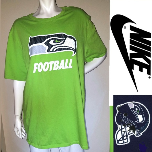 24a0154e NEW Seattle SEAHAWKS Fan THE NIKE TEE NFL Shirt 2X